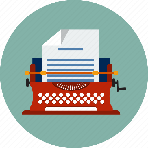 article, author, editing, editorial, letter, machine, typewriter icon