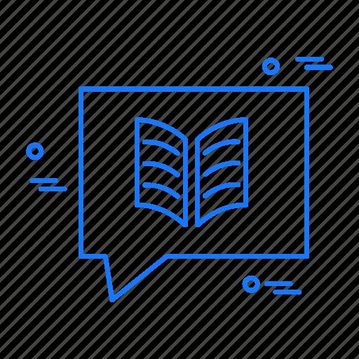 book, idea, message icon