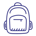 backpack, knapsack, rucksack, schoolbag icon