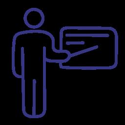 male, man, presentation, teacher icon