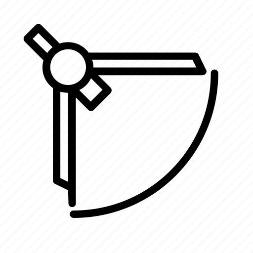 compass, school, supply, tool icon