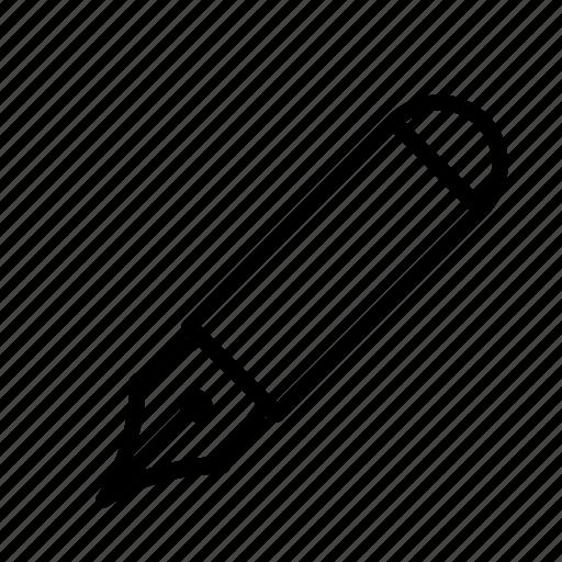 fountain, pen, pencil, supply, tool, write icon