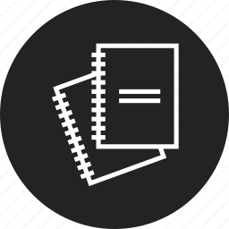 book, exercise, notebook icon