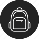 backpack, rucksack, schoolbag icon