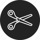 barber, cut, scissors icon