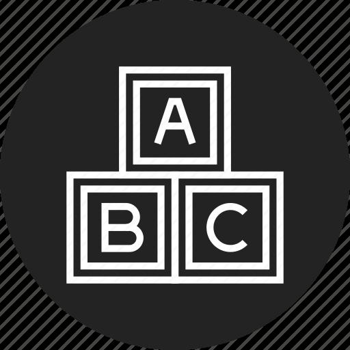 abc, bricks, toy icon