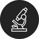 lab, microscope, science icon