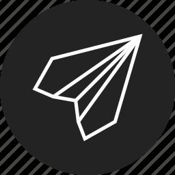 paper, plane, startup icon