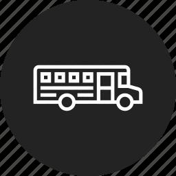 bus, school, vehicle icon