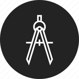 compass, drawing, engineering icon