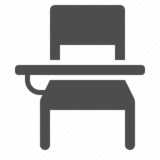 bench, chair, classroom, desk icon