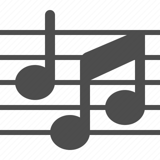 music, music notes, musical, sheet music icon