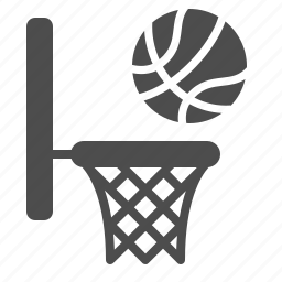 ball, basket, basketball, hoop, physical education, playing, sports icon