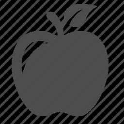 apple, fruit, school, snack icon