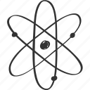 atom, chemistry, drawing, school, science, sign, subject icon