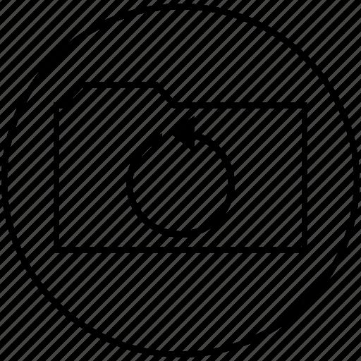 binder, file, office, portfolio, school, supples icon