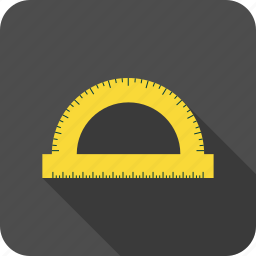 geometry, ruler, school, semi-circle icon