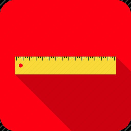 geometry, ruler, school icon