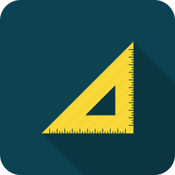 geometry, ruler, school, triangle icon