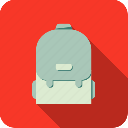 backpack, school icon