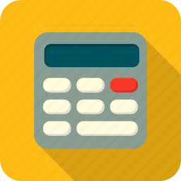 calculator, math, school icon