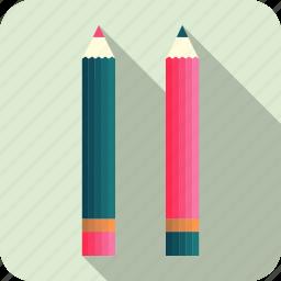 art, coloured pencil, draw, pencils, school icon