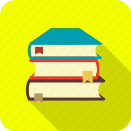 books, school, stack of books, study icon