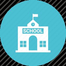 building, education, education building, school icon