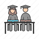 education, graduation, school, sitting, student, uniform