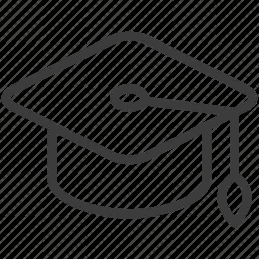 cap, graduation, hat, mortar board icon