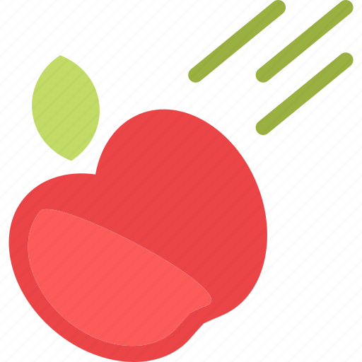 apple, fruit, law, phisycs, throw icon