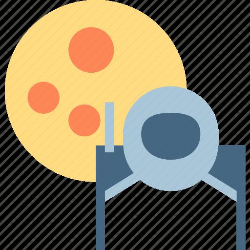astronaut, cosmonaut, moon, planet, space, travel, universe icon
