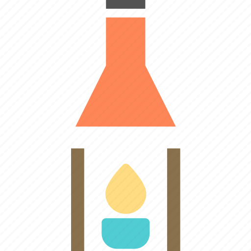 fire, flam, flasklab, heat icon