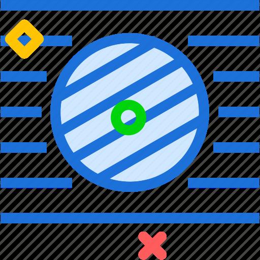 adjustment, investigate, lines, measure, planet icon