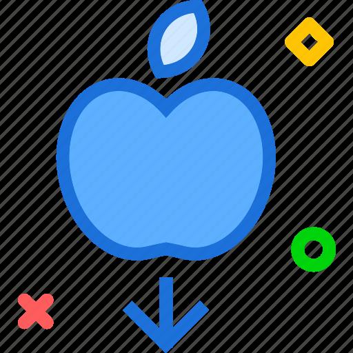 apple, fall, fruit, law, phisycs icon