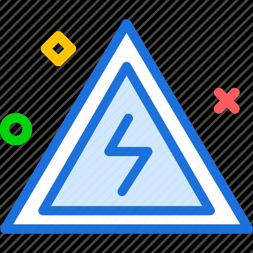 danger, electricity, radio, signal icon