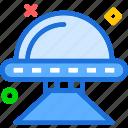 alien, monster, ship, visitor icon