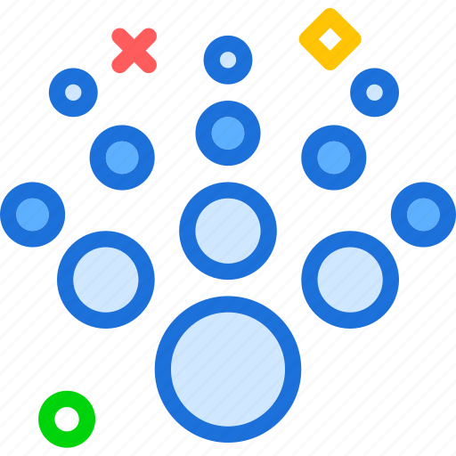 circles, radiant, spread, structure icon