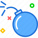 bomb, comet, explosion, meteor, science, test icon