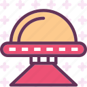 alien, monster, ship, visitor icon