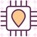 chip, computer, pinpoint, tech, test icon
