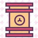 barrel, caution, container, danger, laboratory, radiation icon