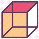 cube, dimension, graphics, shape icon