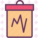 analysis, chart, observe, stats, study icon
