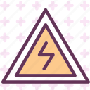 danger, electricity, radio, signal icon