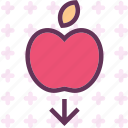 apple, fall, fruit, law, phisycs icon