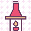 fire, flam, flasklab, heat icon