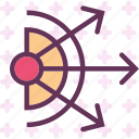 arrows, direction, dispersion, spread icon
