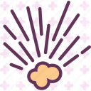 comet, danger, explosion, meteor, science icon