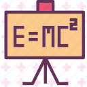 calculate, einstein, equation, math, study icon